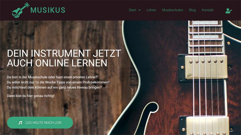 Erster Prototyp (MVP) unserer Musik Lern Plattform ist online