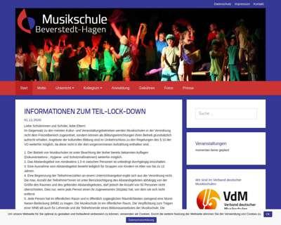 Screenshot (small) http://www.musikschule-beverstedt-hagen.de