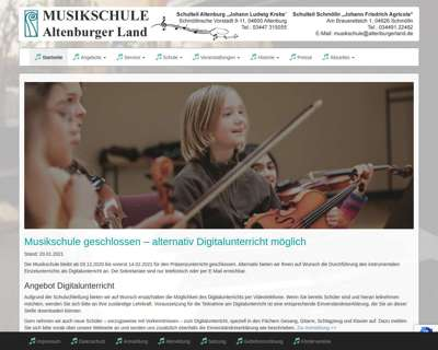 Screenshot (small) http://www.musikschule-altenburgerland.de
