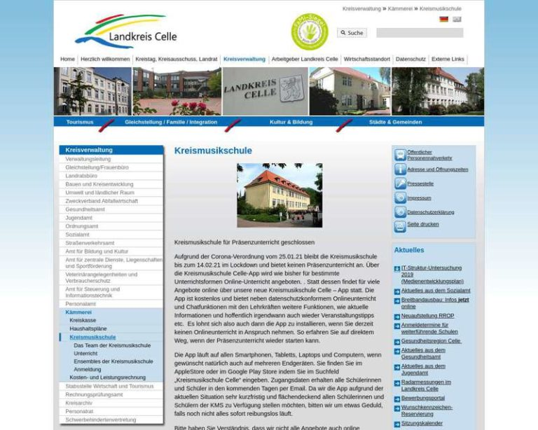 Screenshot (middle) http://www.kreismusikschule-celle.de