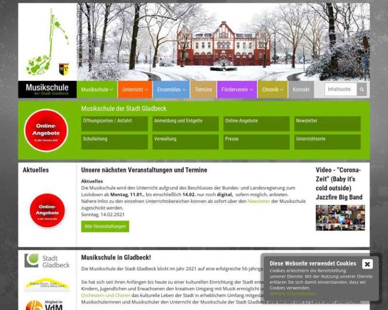 Screenshot (middle) http://www.musikschule-gladbeck.de