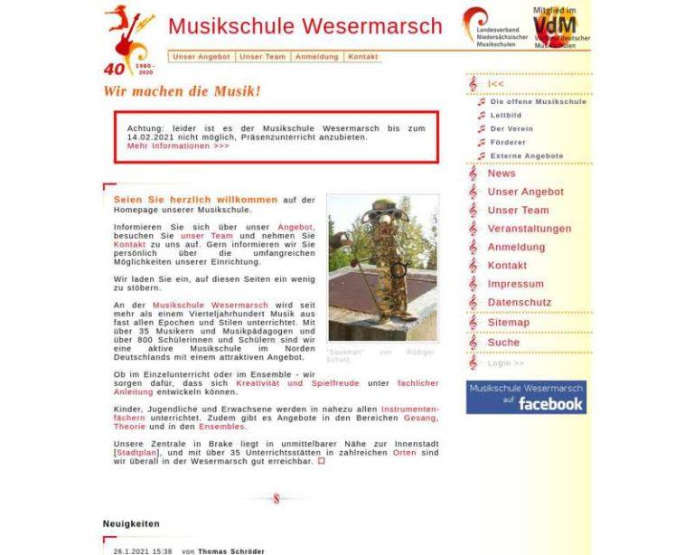 Screenshot (middle) http://www.musikschule-wesermarsch.de