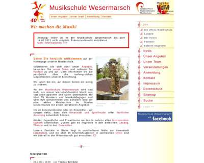Screenshot (small) http://www.musikschule-wesermarsch.de