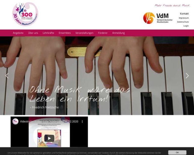 Screenshot (middle) http://www.musikschule-badpyrmont.de