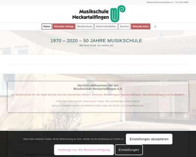 Screenshot (small) http://www.musikschule-neckartailfingen.de