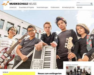 Screenshot (small) http://www.musikschule-stadt-neuss.de