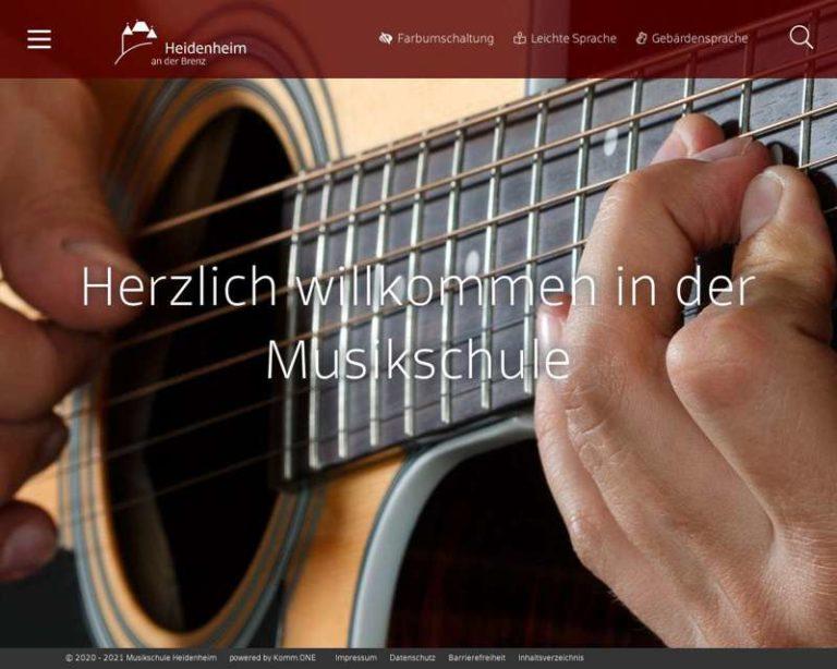 Screenshot (middle) http://www.musikschule-heidenheim.de
