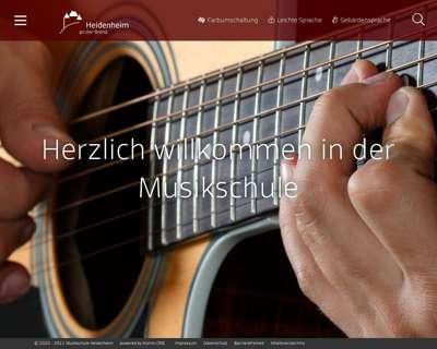 Screenshot (small) http://www.musikschule-heidenheim.de