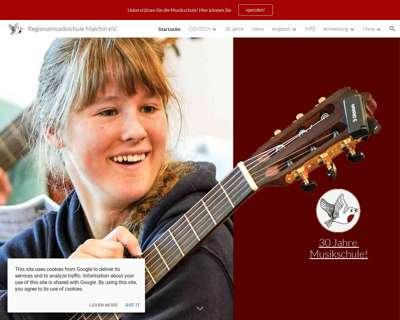 Screenshot (small) http://www.musikschule-malchin.de