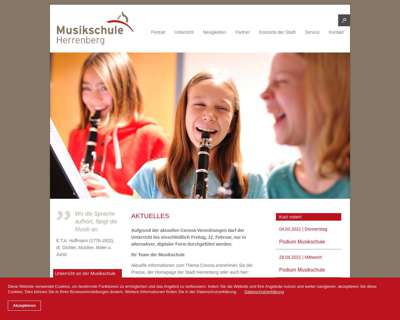 Screenshot (small) http://www.musikschule.herrenberg.de
