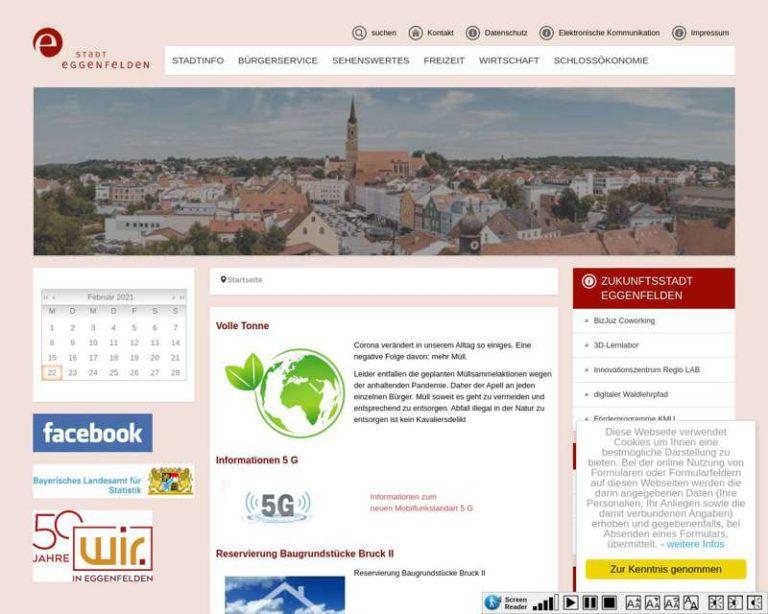 Screenshot (middle) http://www.eggenfelden.de