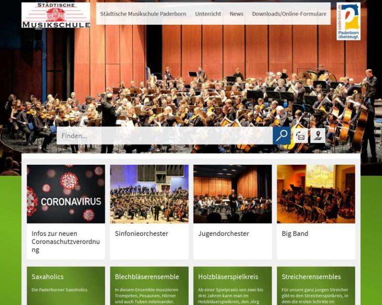 Screenshot (middle) http://www.MusikschulePaderborn.de