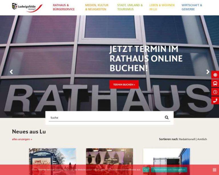 Screenshot (middle) http://www.ludwigsfelde.de