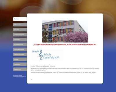 Screenshot (small) http://www.musikschule-karlsfeld.de
