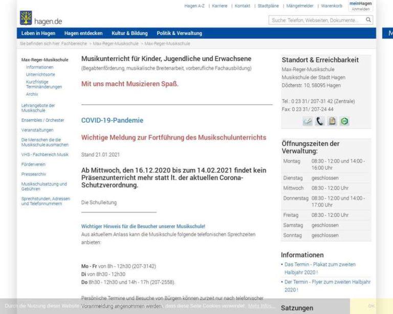 Screenshot (middle) http://www.hagen.de/Musikschule