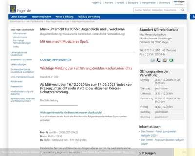 Screenshot (small) http://www.hagen.de/Musikschule