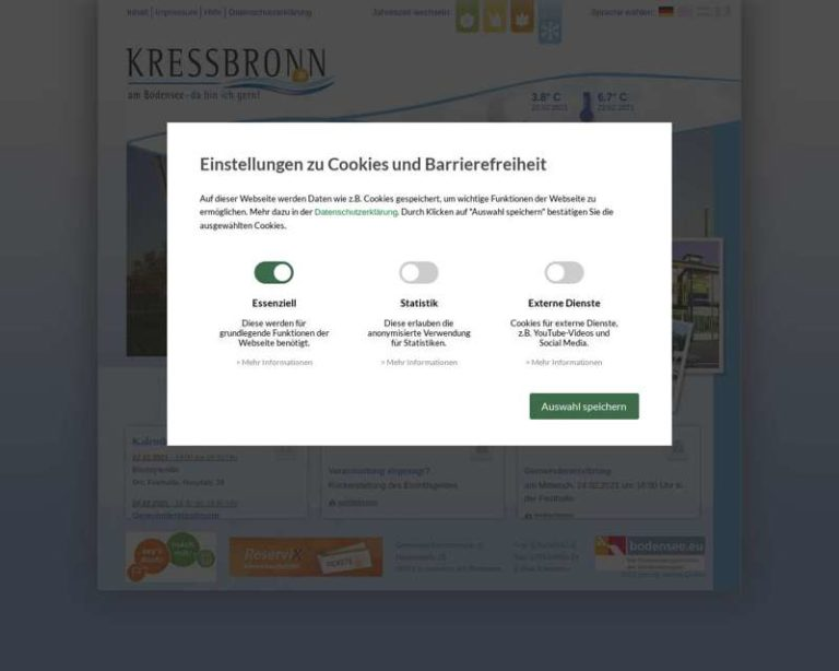 Screenshot (middle) http://www.kressbronn.de