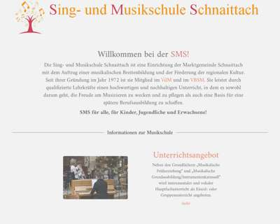 Screenshot (small) http://www.musikschule-schnaittach.de