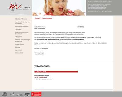 Screenshot (small) http://www.musikschule-ebersbach.de