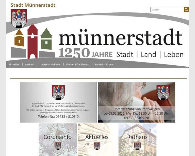 Screenshot (middle) http://www.muennerstadt.de