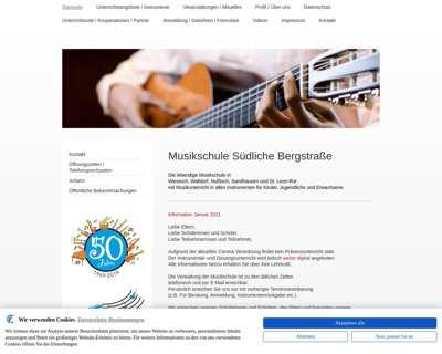 Screenshot (small) http://www.musikschule-suedl-bergstrasse.de
