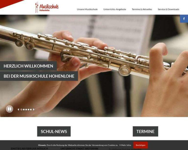 Screenshot (middle) http://www.musikschule-hohenlohe.de