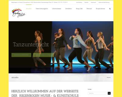 Screenshot (small) http://www.musik-kunstschule-regenbogen.de