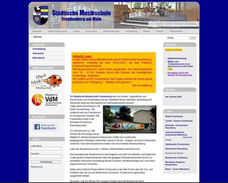 Screenshot (middle) http://www.musikschule-freudenberg.de