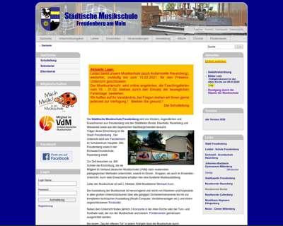 Screenshot (small) http://www.musikschule-freudenberg.de