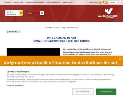 Screenshot (small) http://www.musikschule-waldkraiburg.de