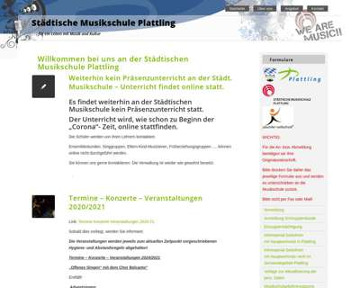 Screenshot (small) http://www.musikschule-plattling.de