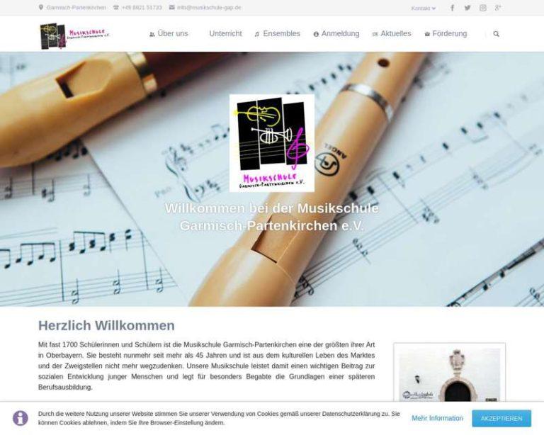 Screenshot (middle) http://www.musikschule-gap.de