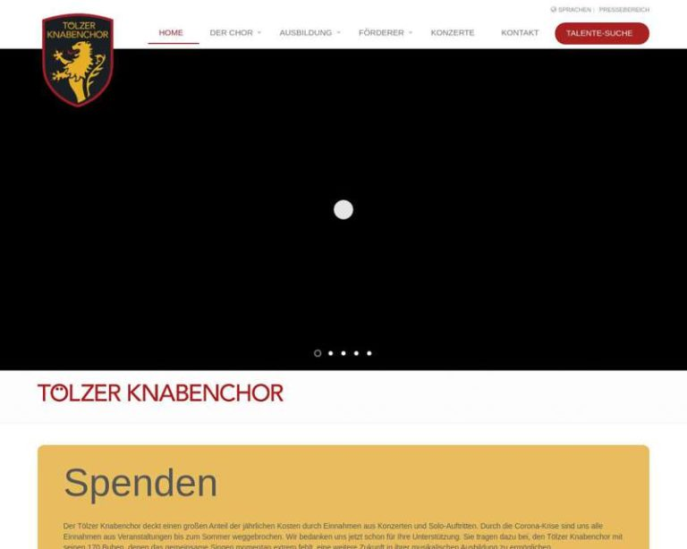 Screenshot (middle) http://www.toelzerknabenchor.de