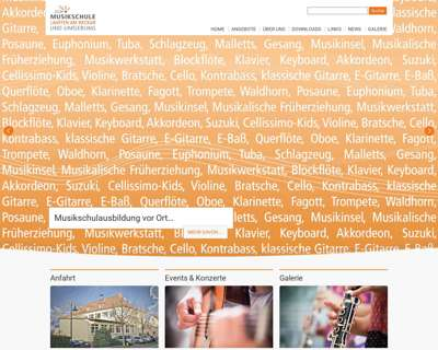 Screenshot (small) http://www.lauffen-musikschule.de