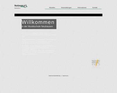Screenshot (small) http://www.musikschule-neuhausen.de