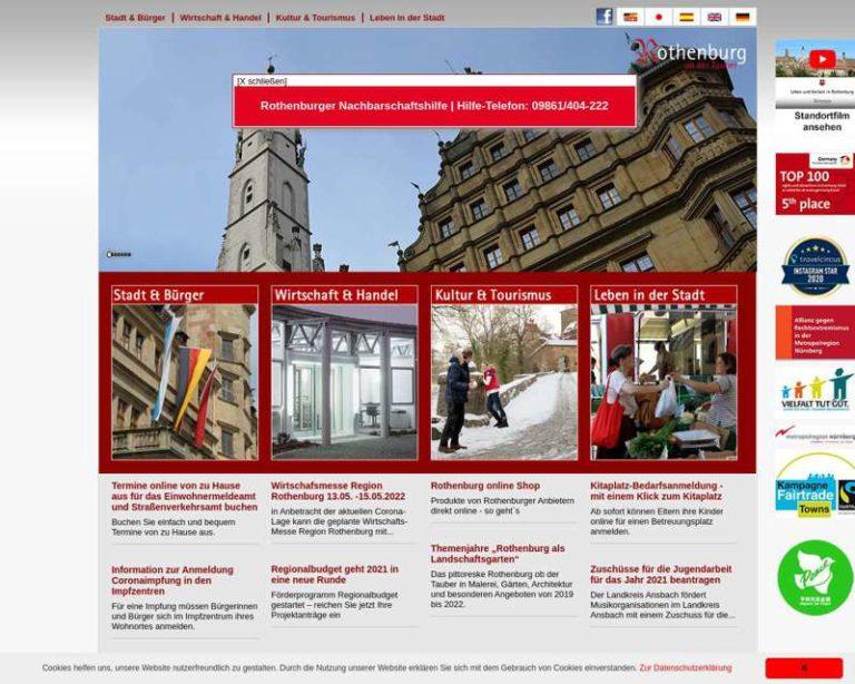 Screenshot (middle) http://www.rothenburg.de
