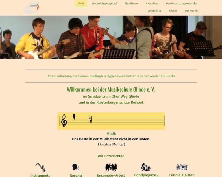 Screenshot (middle) http://www.musikschule-glinde.de