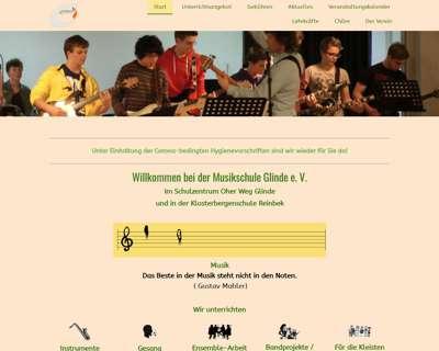 Screenshot (small) http://www.musikschule-glinde.de