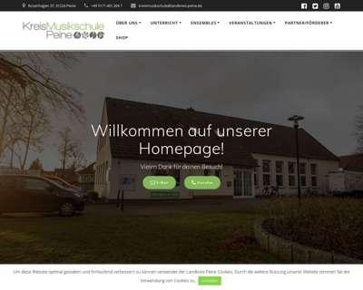 Screenshot (small) http://www.kreismusikschule-peine.de