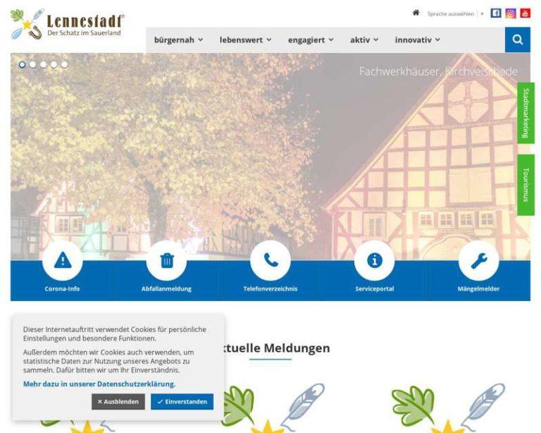 Screenshot (middle) http://www.lennestadt.de