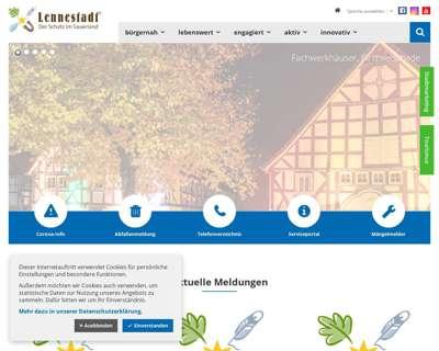 Screenshot (small) http://www.lennestadt.de