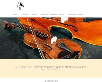 Screenshot (small) http://www.musikschule-bitterfeld.de