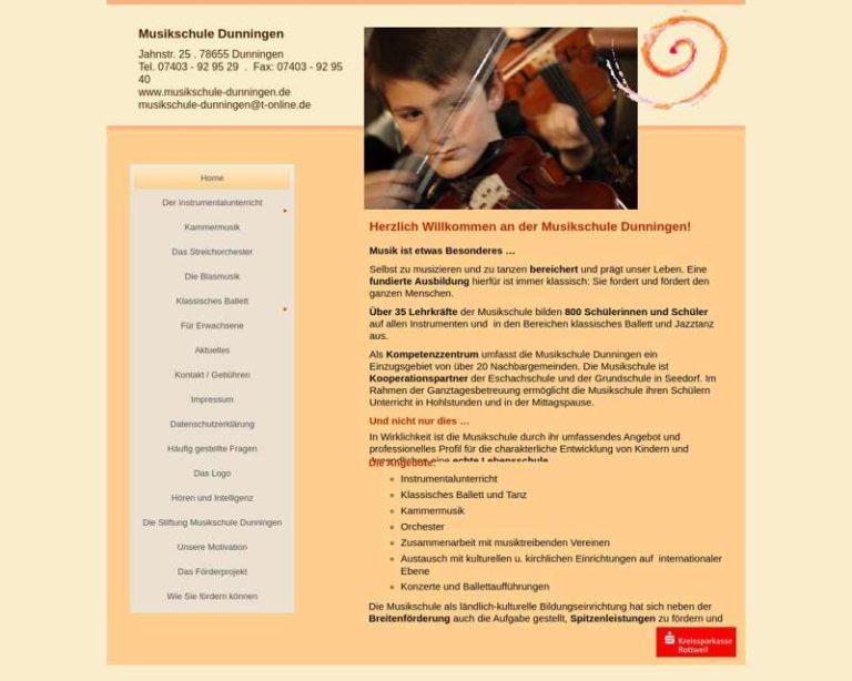 Screenshot (middle) http://www.musikschule-dunningen.de
