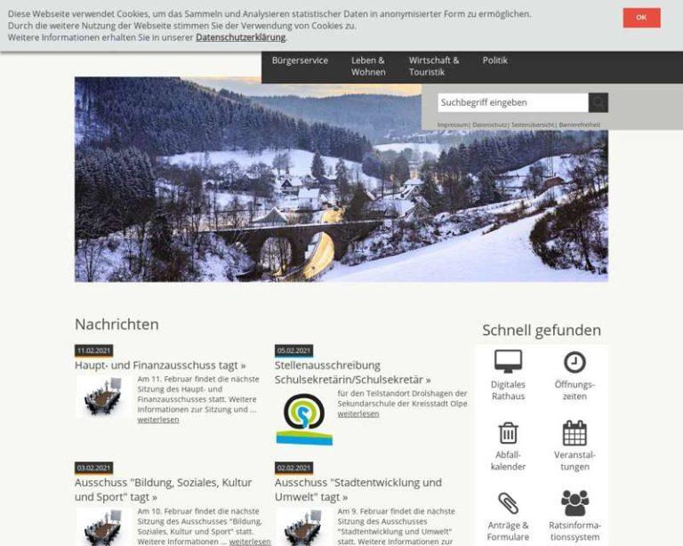 Screenshot (middle) http://www.drolshagen.de