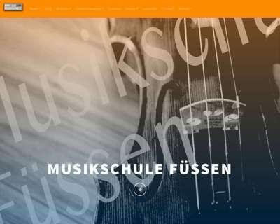 Screenshot (small) http://www.musikschule-fuessen.de
