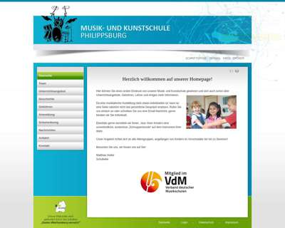 Screenshot (small) http://www.musikschule-philippsburg.de