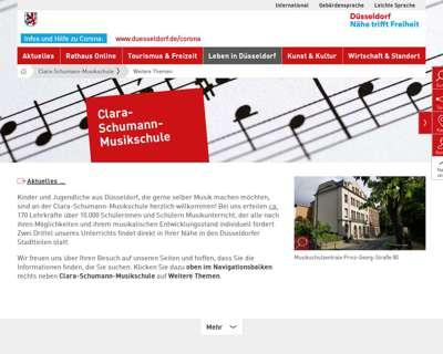 Screenshot (small) http://www.duesseldorf.de/musikschule