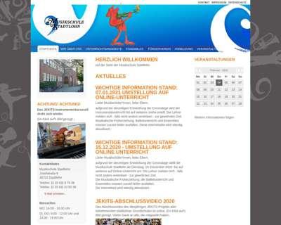 Screenshot (small) http://www.musikschule-stadtlohn.de