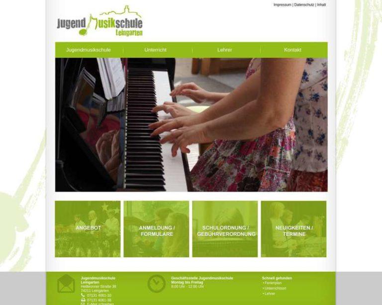 Screenshot (middle) http://www.jugendmusikschule-leingarten.de