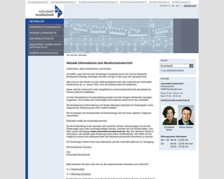 Screenshot (middle) http://www.schurwald-musikschule.de